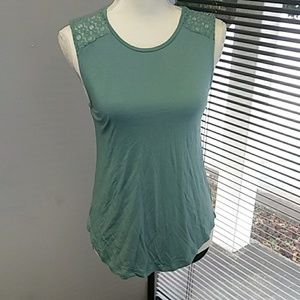 Old Navy seafoam agua color top with lace